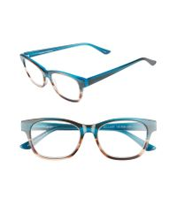 Corinne Mccormack - Blue Hillary 50mm Reading Glasses - Turquoise - Lyst