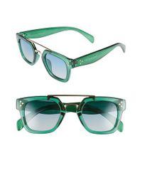 f2221f030e Lyst - Privé Revaux The Foxx 49mm Aviator Sunglasses in Green