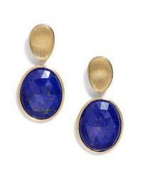 Marco Bicego - Metallic Lunaria Semiprecious Stone Drop Earrings - Lyst