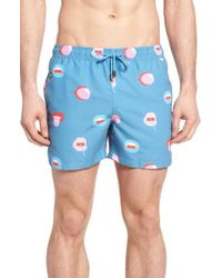 Nikben - Blue Bigmouth Swim Trunks for Men - Lyst