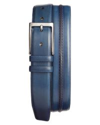 Mezlan - Blue Palma Leather Belt - Lyst
