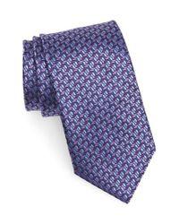 Canali - Purple Geometric Silk Tie for Men - Lyst