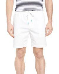 Tori Richard - White Drawstring Bedford Corduroy Shorts for Men - Lyst