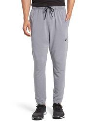 Nike | Gray Dri-fit Fleece Training Pants for Men | Lyst
