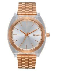 Nixon - Metallic Time Teller Bracelet Nato Strap Watch - Lyst