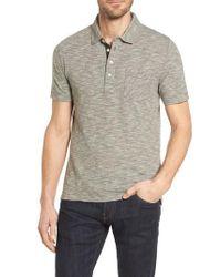 Billy Reid - Gray Stripe Jersey Polo for Men - Lyst