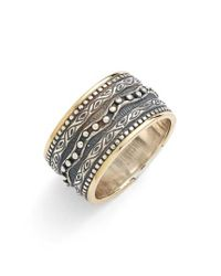 Konstantino - Metallic 'hebe' Etched Band Ring - Lyst