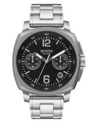 Nixon - Metallic Charger Chronograph Bracelet Watch for Men - Lyst