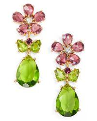 Kate Spade - Multicolor In Full Bloom Cluster Drop Earrings - Lyst