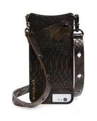 Bandolier - Black Roxanne Leather Iphone Crossbody Case - Lyst