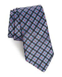 Ted Baker - Black Floral Silk Tie for Men - Lyst