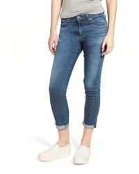 AG Jeans - Blue Prima Roll-up Cigarette Jeans - Lyst