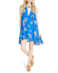 Free People | Blue 'tree Swing' Sleeveless Tunic | Lyst