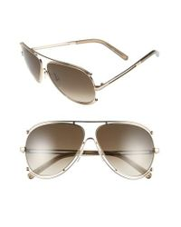 Chloé | Pink 'isidora' 61mm Aviator Sunglasses | Lyst