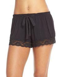 Flora Nikrooz - Black Snuggle Lounge Shorts - Lyst