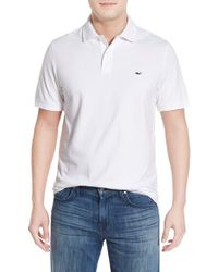 Vineyard Vines | White Slim Fit Stretch Cotton Pique Polo for Men | Lyst