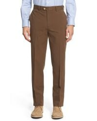 Bensol | Brown Trim Fit Stretch Cotton Ottoman Trousers for Men | Lyst
