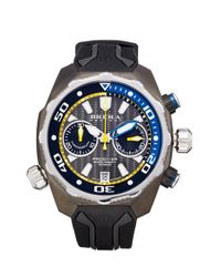 Brera Orologi   Black 'pro Diver' Chronograph Rubber Strap Watch for Men   Lyst