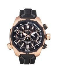 Brera Orologi | Black 'pro Diver' Chronograph Rubber Strap Watch for Men | Lyst