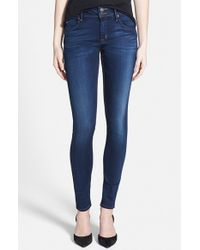 Hudson | Blue 'collin' Supermodel Skinny Jeans | Lyst