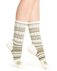 Smartwool   Natural Print Merino Wool Blend Crew Socks   Lyst