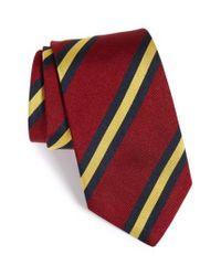 Gitman Brothers Vintage - Red Stripe Silk Tie for Men - Lyst