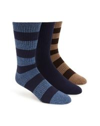 Sperry Top-Sider | Brown 'soft Extreme' Rugby Stripe Crew Socks for Men | Lyst