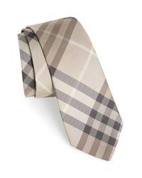 Burberry | Natural 'manston' Check Silk Tie for Men | Lyst