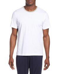 Daniel Buchler | White Crewneck Peruvian Pima Cotton T-shirt for Men | Lyst