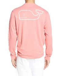 Vineyard Vines | Pink Pocket Long Sleeve T-shirt for Men | Lyst