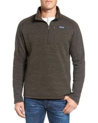 Patagonia | Gray 'better Sweater' Quarter Zip Pullover for Men | Lyst