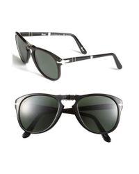 Persol | Black '714' 57mm Folding Polarized Keyhole Sunglasses for Men | Lyst