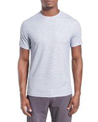 Zella   Gray 'celsian' Moisture Wicking Stripe T-shirt for Men   Lyst