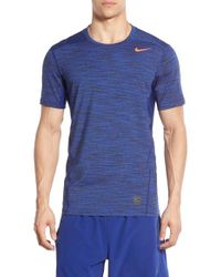 new concept a5491 66bc7 Lyst - Nike Space Dyed Dri-fit Fitted Training T-shirt in Blue for Men