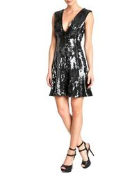 Dress the Population | Gray 'marilyn' Sequin Dress | Lyst
