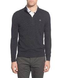 AG Jeans   Gray Green Label 'baker' Slim Fit Wool & Cashmere Half Zip Sweater for Men   Lyst