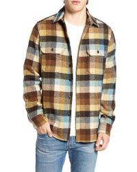 Woolrich - Red Buffalo Plaid Wool Blend Flannel Shirt for Men - Lyst