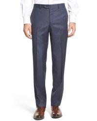 John W. Nordstrom | Blue Nordstrom Men's Shop Flat Front Sharkskin Wool Trousers for Men | Lyst