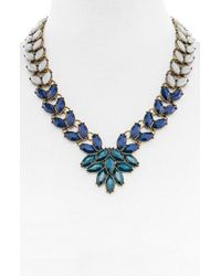BaubleBar | Blue 'marbled Garland Brooch' Collar Necklace | Lyst