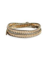 Panacea | Gray Curb Chain Wrap Bracelet | Lyst