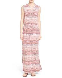 Caslon - Pink Caslon Sleeveless Woven Maxi Dress - Lyst