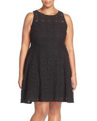 BB Dakota   Black 'renley' Lace Fit & Flare Dress   Lyst