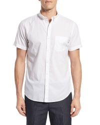 Bonobos | White Slim Fit Short Sleeve Chambray Sport Shirt for Men | Lyst