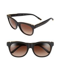 Tory Burch | Metallic 53mm Gold Trimmed Sunglasses | Lyst