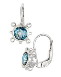 Anzie - Blue 'dewdrop' Drop Earrings - Lyst