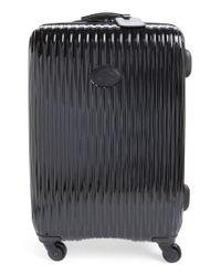Longchamp | Black 'medium Fairval' Four-wheel Hard Shell Suitcase | Lyst