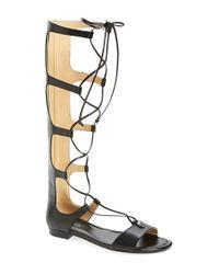 MICHAEL Michael Kors - Black 'sofia' Tall Gladiator Sandal - Lyst