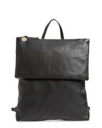 Clare V. | Black 'agnes Maison' Leather Backpack | Lyst