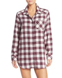 Make + Model | Multicolor Plaid Cotton Blend Nightshirt | Lyst
