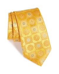 Nordstrom - Yellow Nordstrom 'elegant' Medallion Silk Tie for Men - Lyst